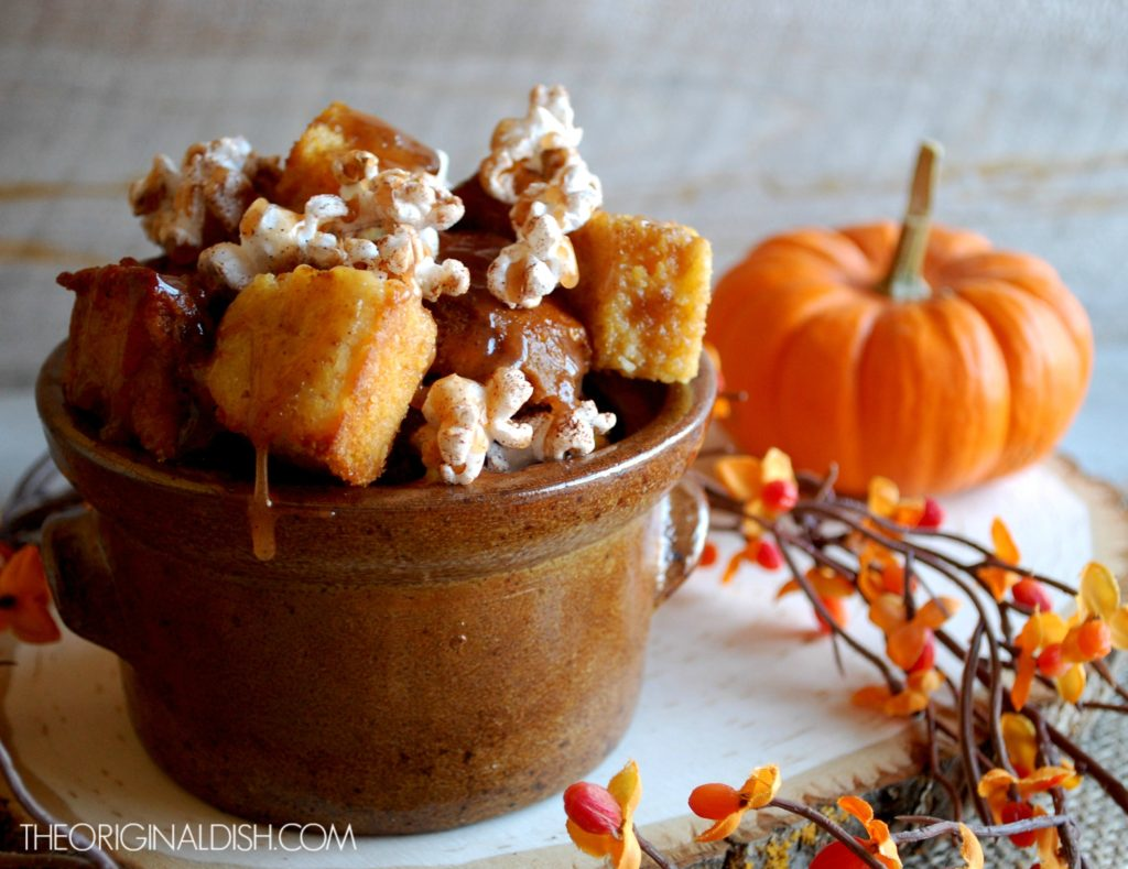 Pumpkin Cornbread Pudding