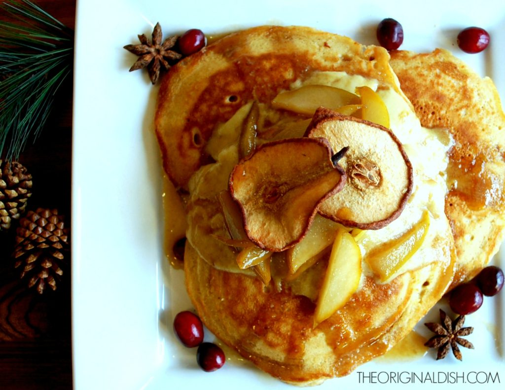 Pancakes with chestnut cream spiced pear syrup the original dish the texture of the cream wont be completely smooth but the flavor is worth it this cream is a rich and decadent accompaniment for the pancakes ccuart Choice Image