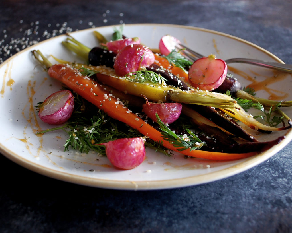 Honey Turmeric Roasted Carrots & Radishes