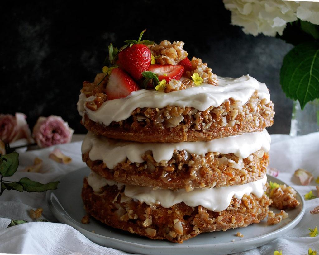 Coconut Praline Carrot Cake