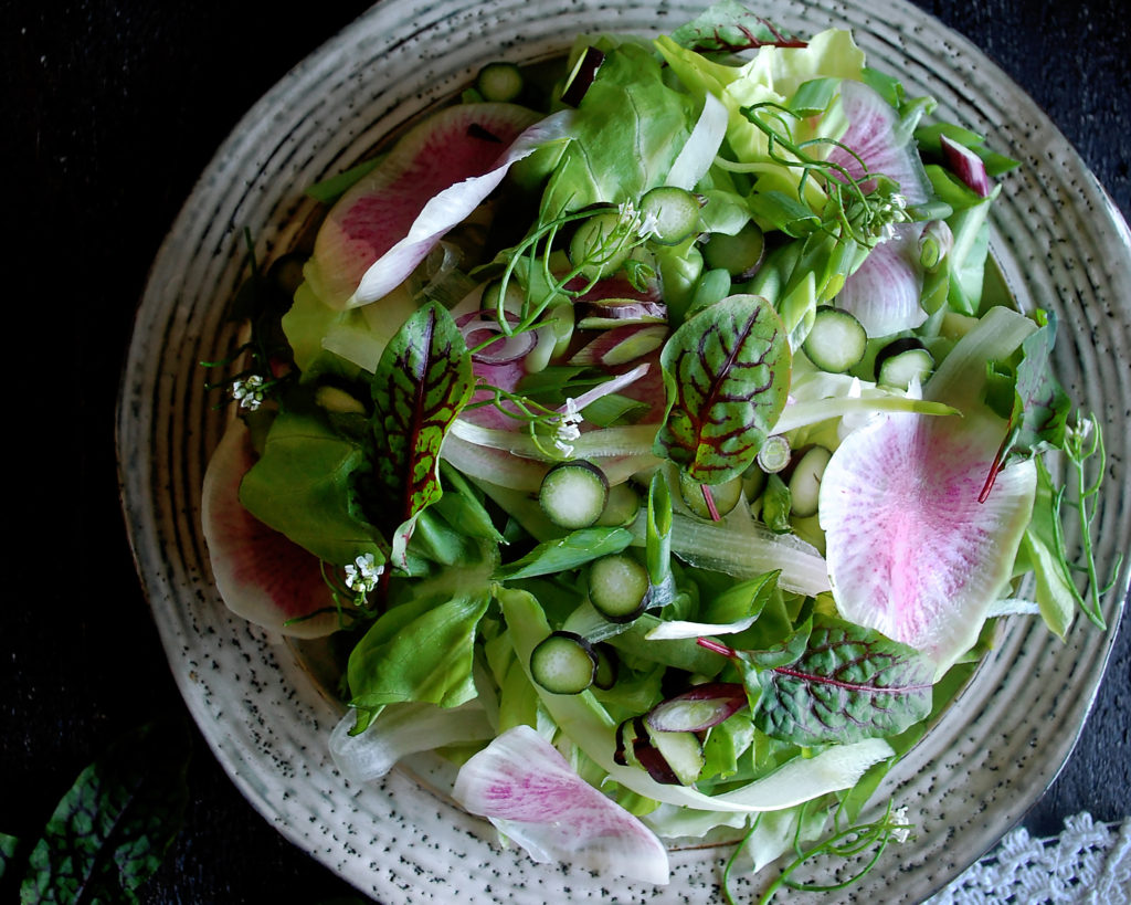 Market Salad with Black Garlic Vinaigrette