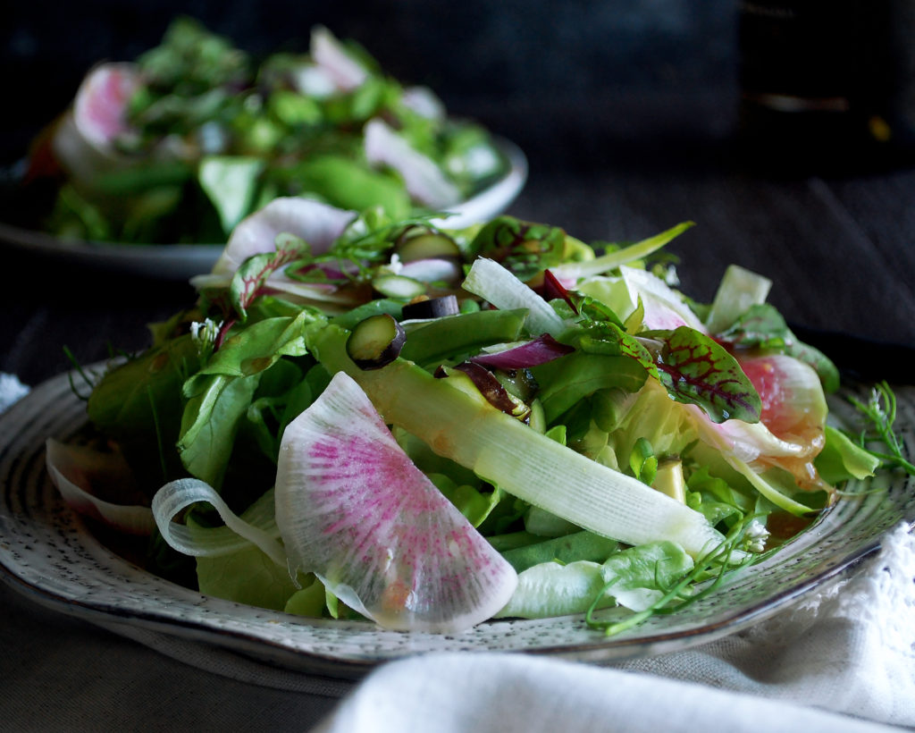 Market Salad with Black Garlic Vinaigrette