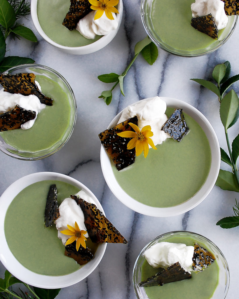 Ginger Matcha Custard