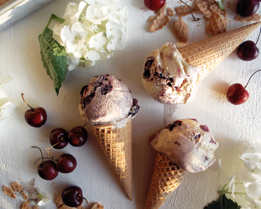 Red Wine Cherry Ice Cream