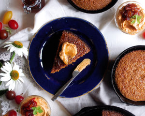 Burnt Honey Cornbread with Tomato Butter
