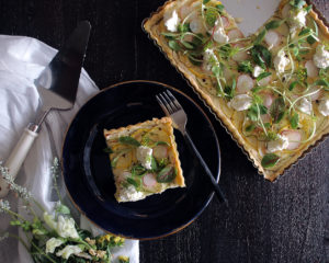 Summer Squash Tart with Ricotta