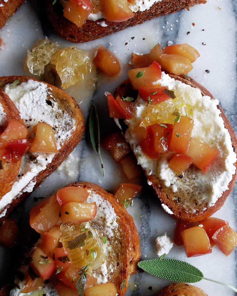 Apple Ricotta Toast