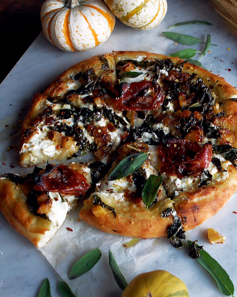 Autumn Squash Burrata Pizza