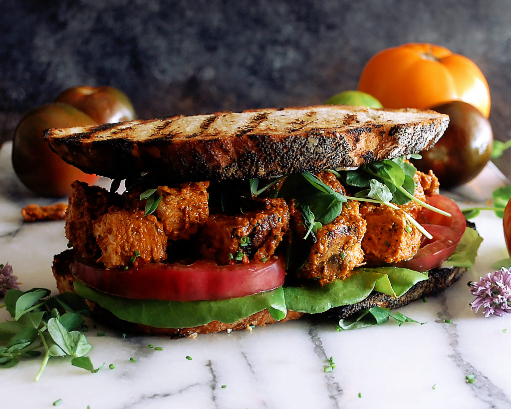Romesco Grilled Chicken BLT Sandwiches - The Original Dish