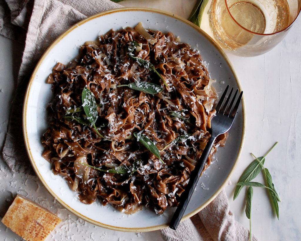 Black Garlic Pasta