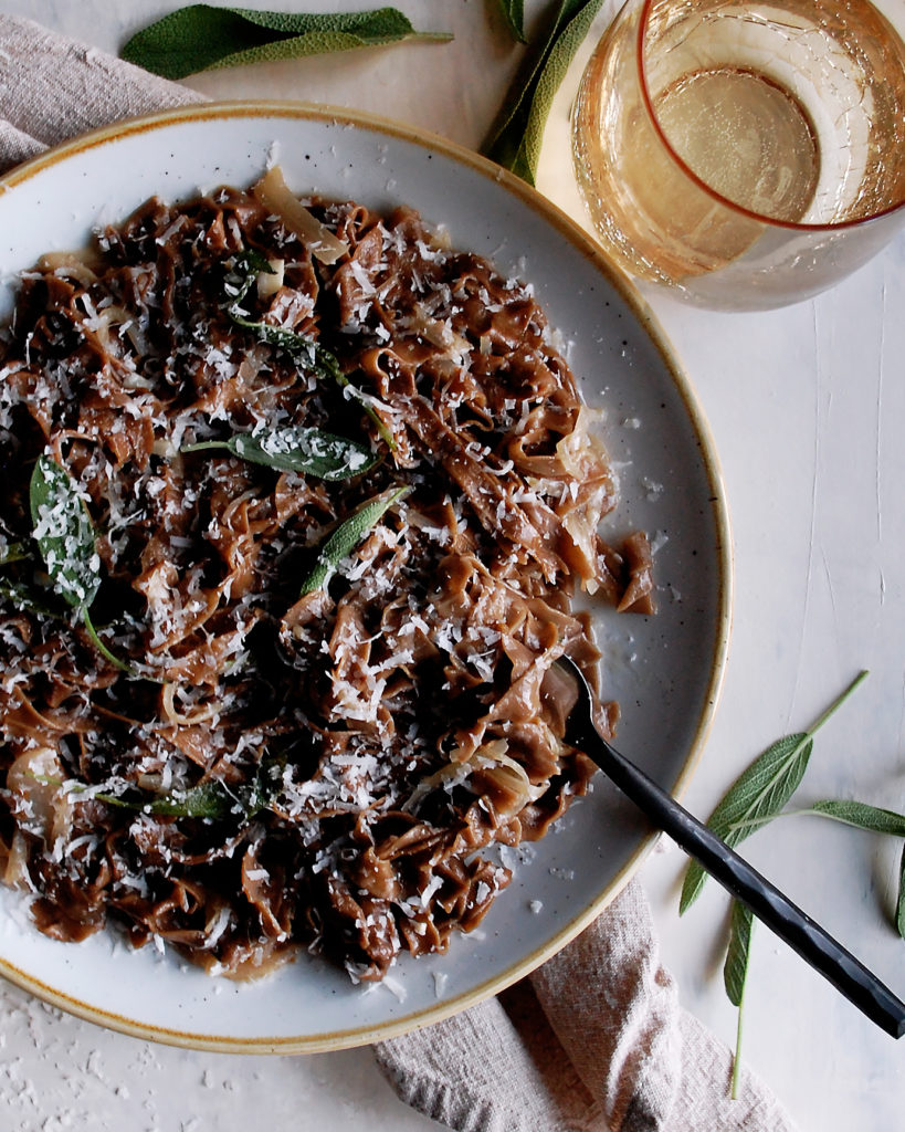 Black Garlic Pasta