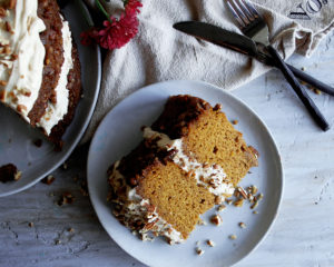 Pumpkin Pecan Praline Cake