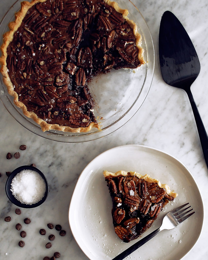 Chocolate Raspberry Pecan Pie