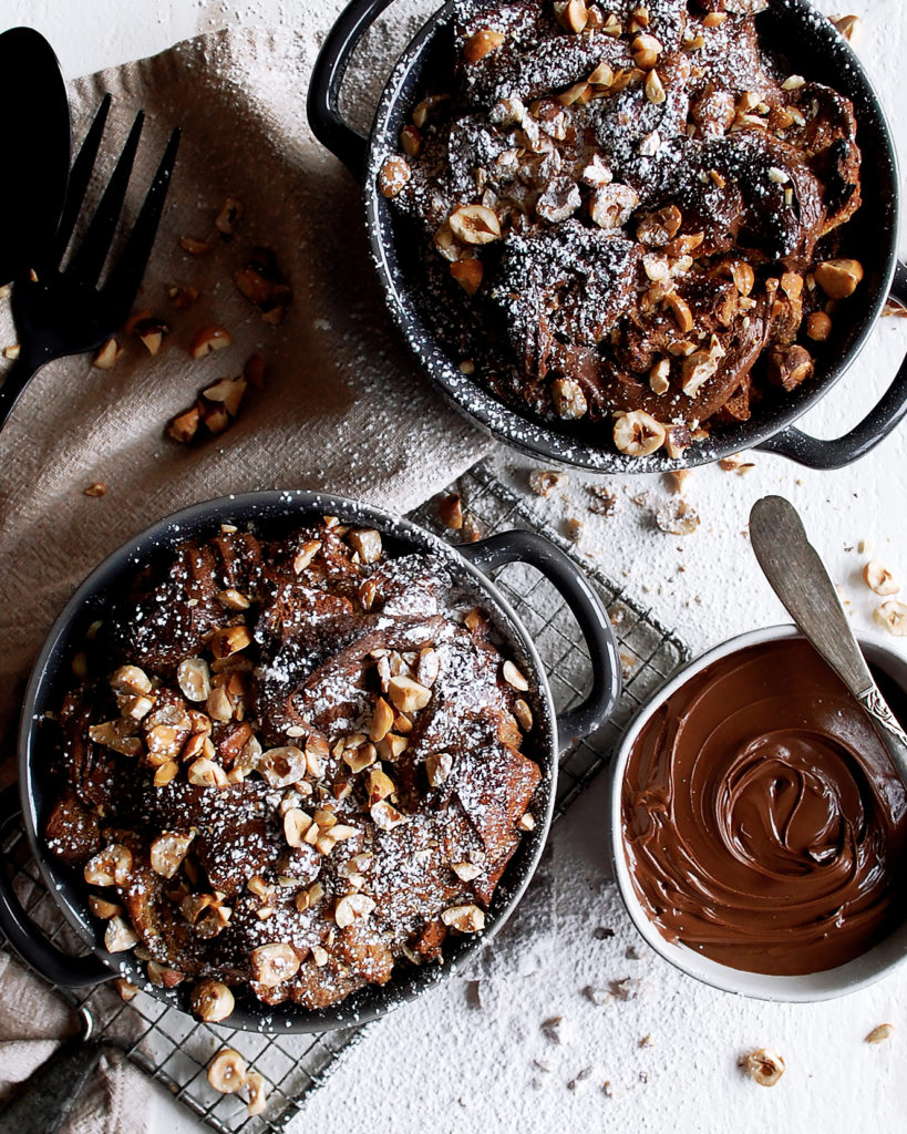 Nutella Brioche Bread Pudding