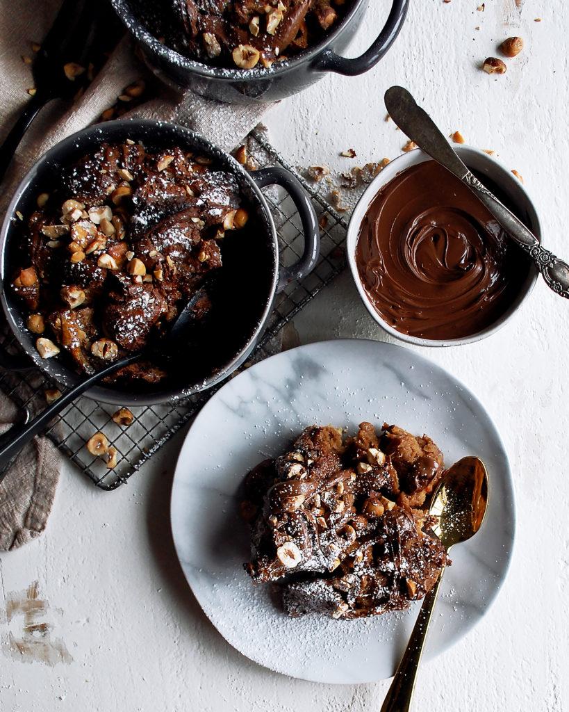 Nutella Brioche Bread Pudding