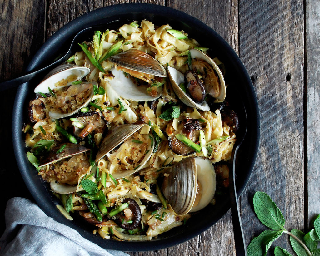 Spring Pasta with Clams