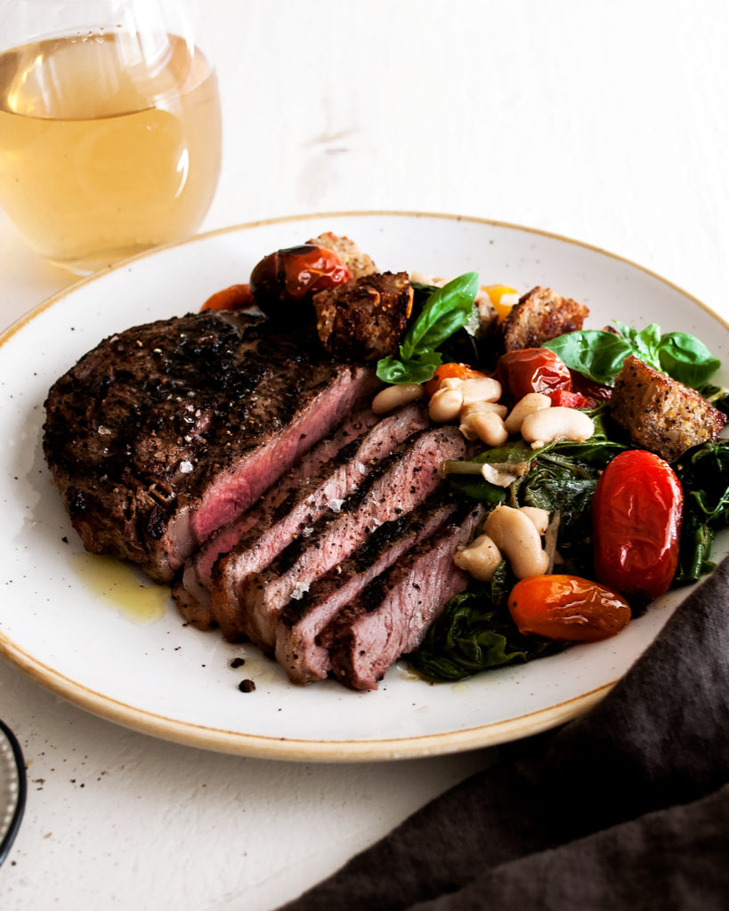 Peppercorn Crusted Rib Eyes