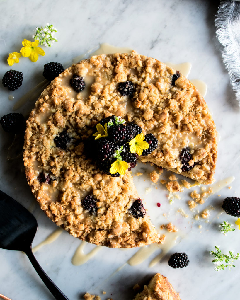 Blackberry Zucchini Coffee Cake
