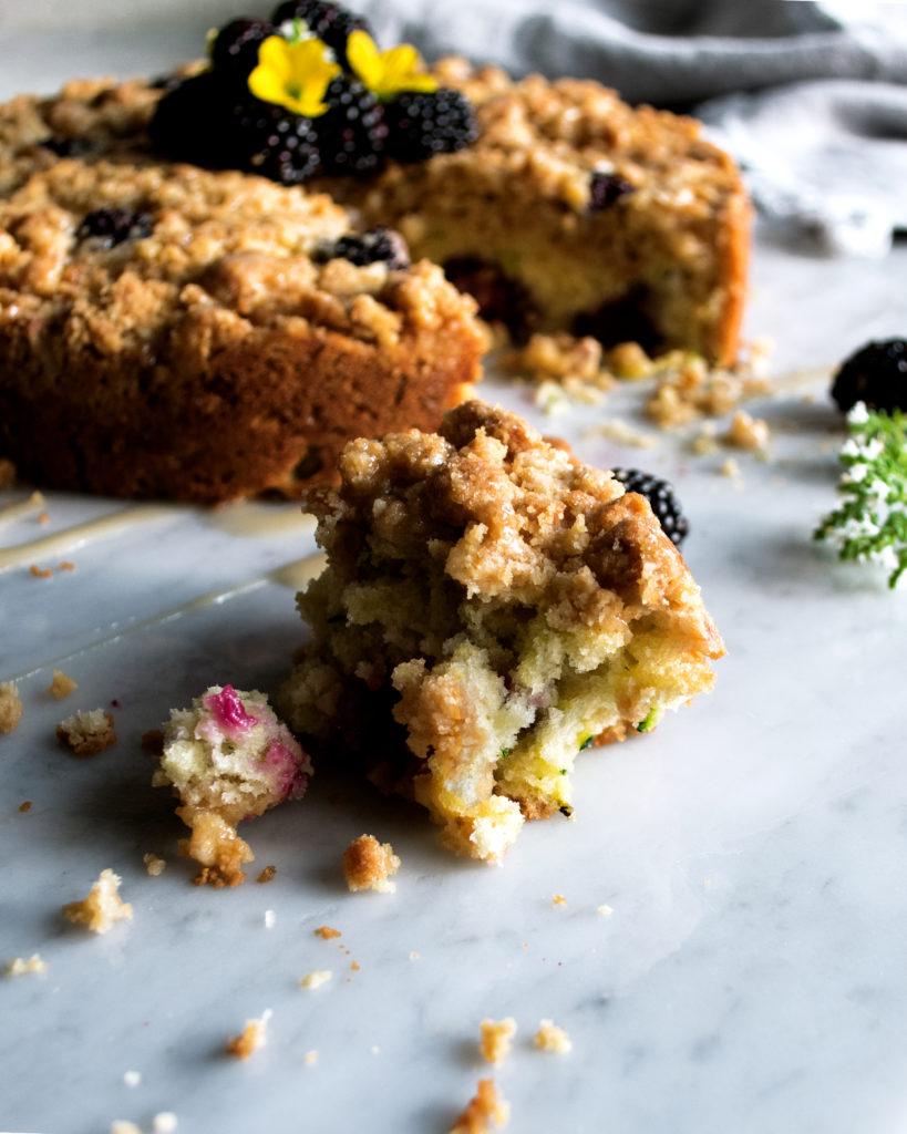 Blackberry Zucchini Coffee Cake
