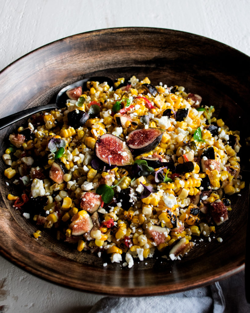 Charred Corn & Fig Salad