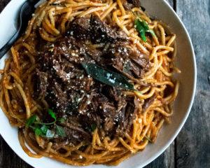Braised Short Rib Spaghetti