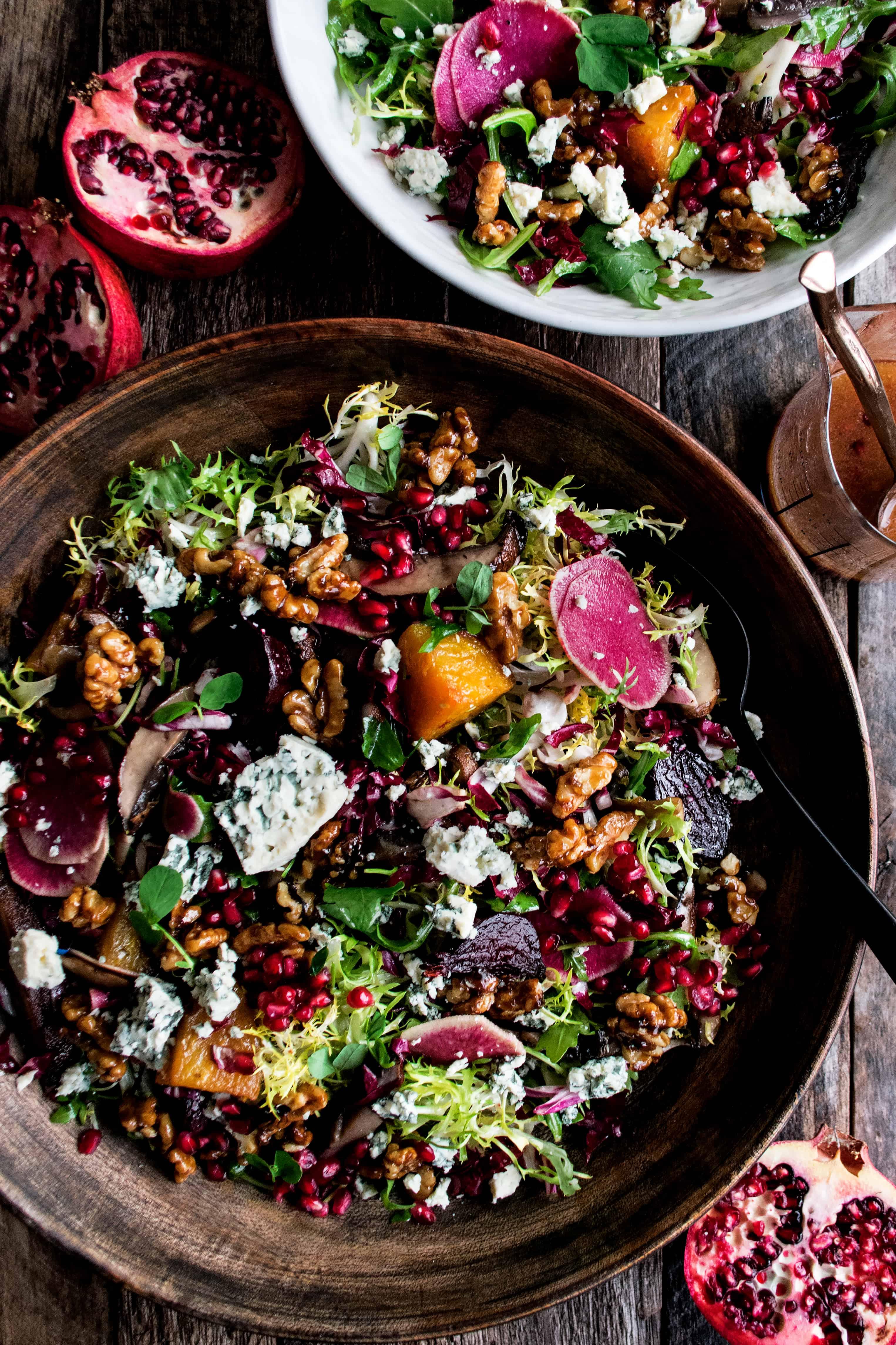 Christmas Salad.Christmas Salad With Pomegranate Vinaigrette