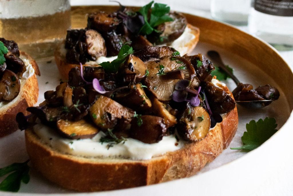 Simple Mushroom Toast