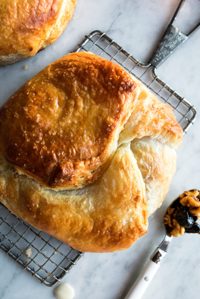 Puff Pastry Wrapped Baked Brie