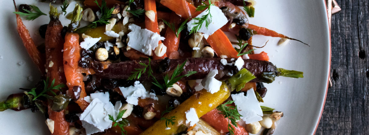 Roasted Carrots with Scallion Vinaigrette