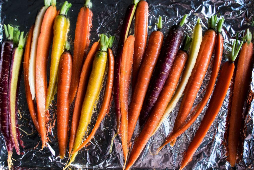 Roasted Carrots with Scallion Vinaigrette
