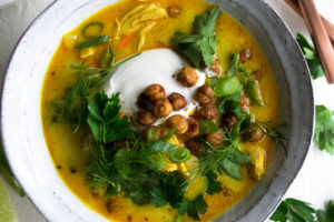 Turmeric Coconut Chicken Soup
