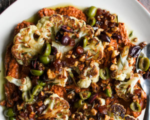 Cauliflower Steaks with Muhammara