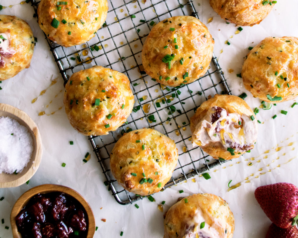 Chive Gougeres