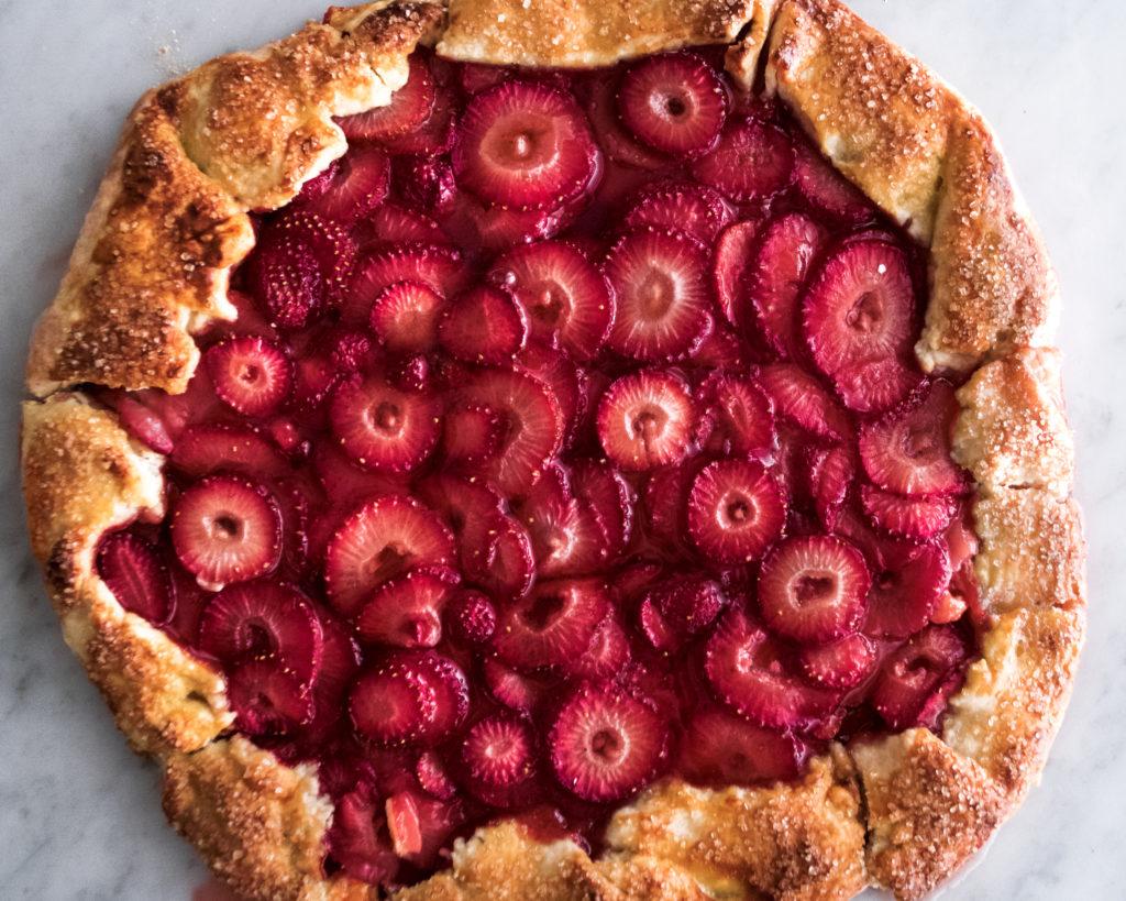 Honey Strawberry Galette