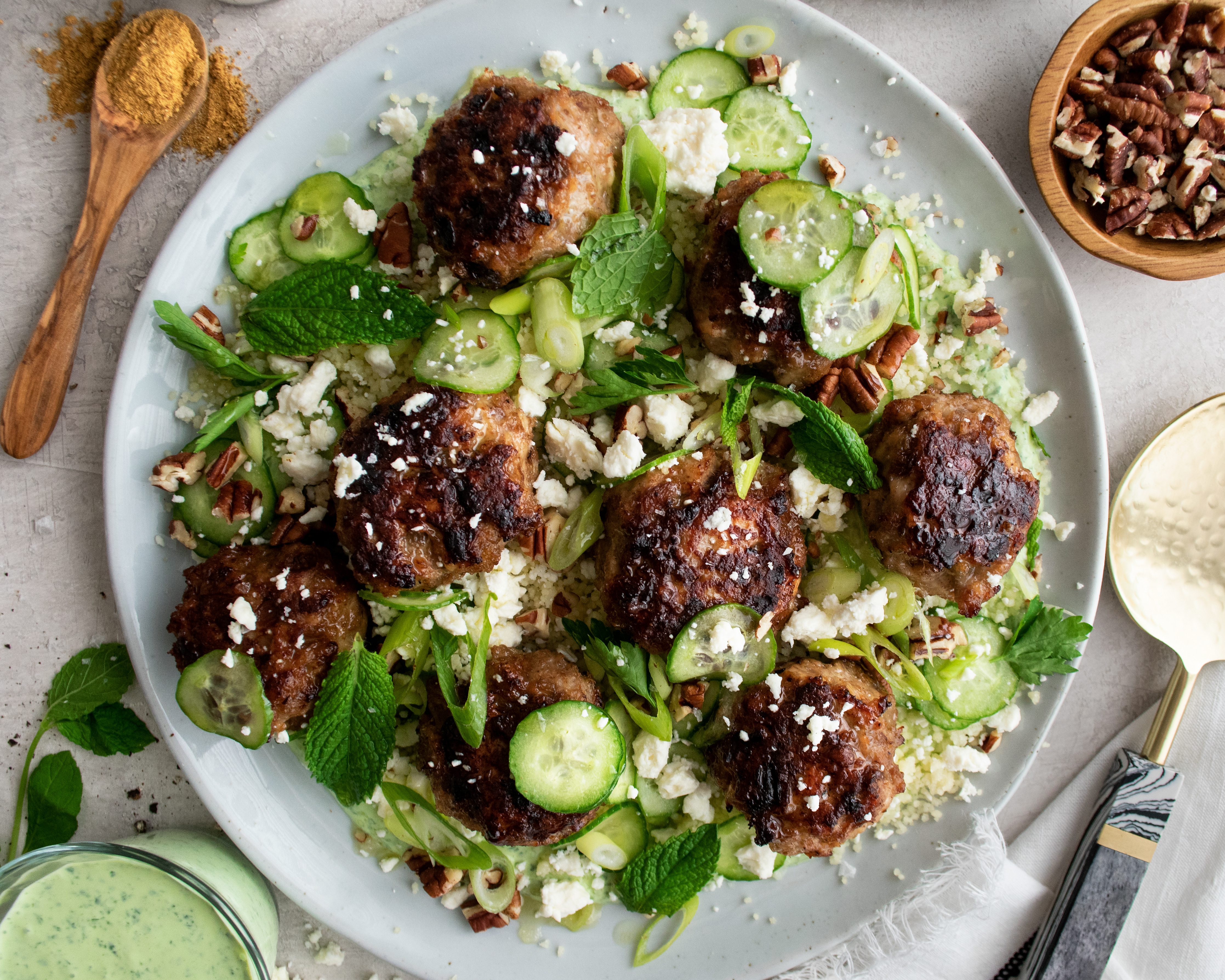 Moroccan Chicken Meatballs With Parsley Sauce The Original Dish