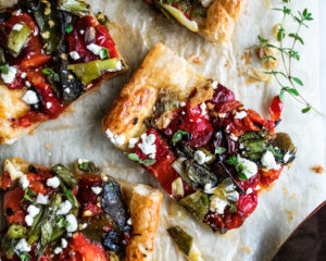 Grilled Pepper Tart