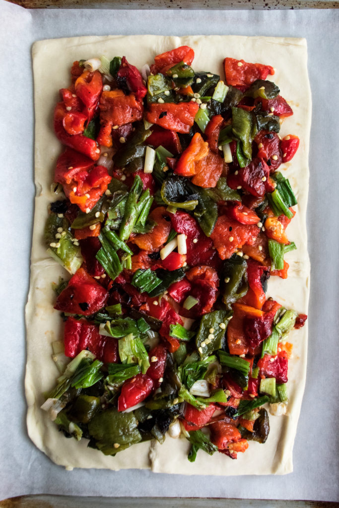 Grilled Pepper Tart