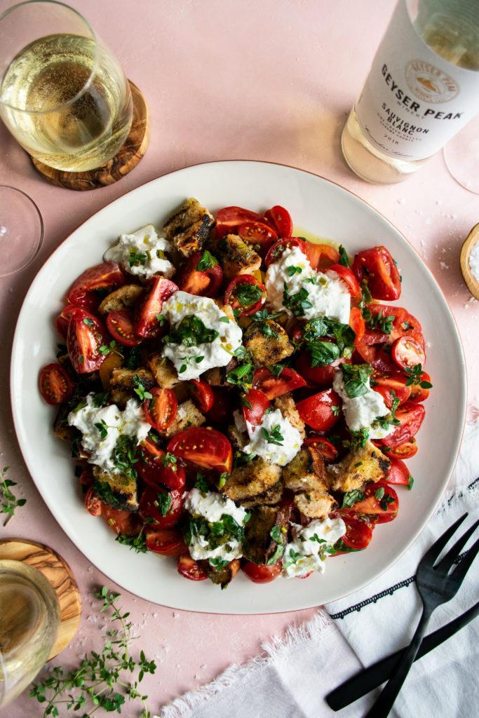 Herb Marinated Tomato Panzanella