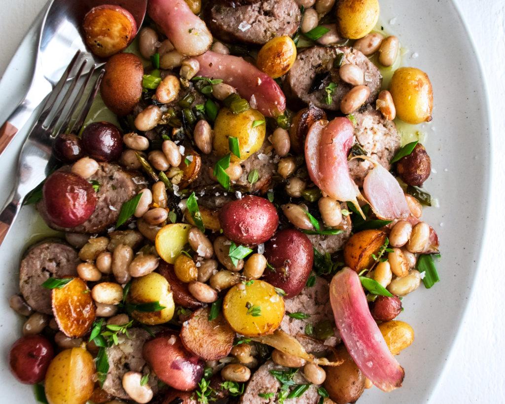 Farmers Market Sausage & Beans