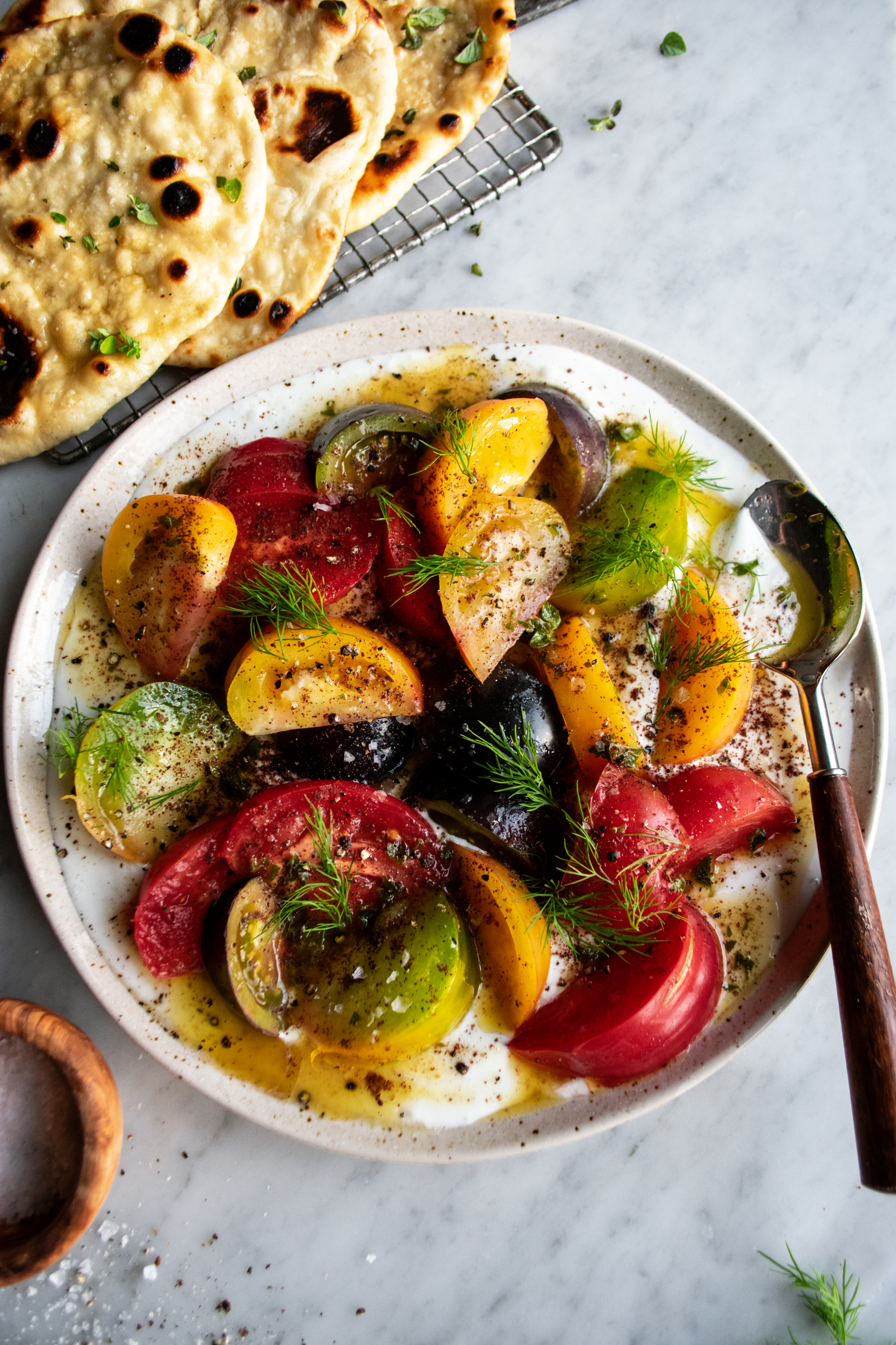 Tomato Salad With Garlic Butter Dressing