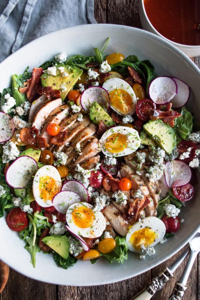 Grilled Romaine Cobb Salad
