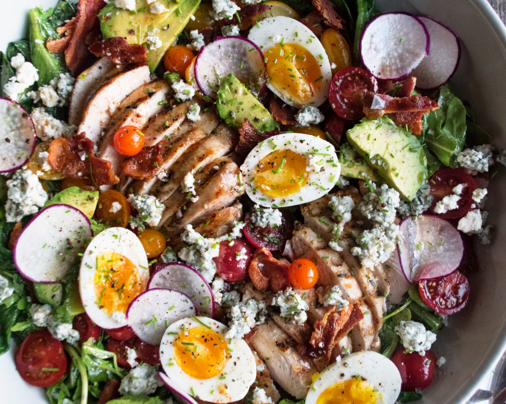 Grilled Romaine Cobb Salad