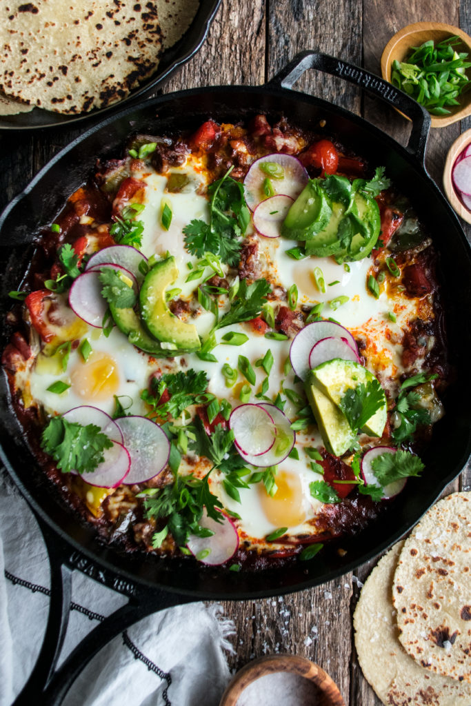 Mexican Baked Eggs With Chorizo Peppers The Original Dish