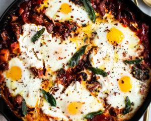 Ricotta Baked Eggs