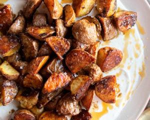 Vinegar Glazed Roasted Potatoes