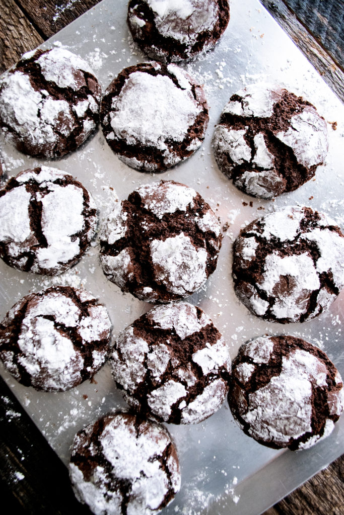 Chocolate Fudge Crinkle Cookies