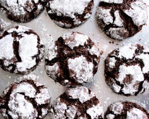 Chocolate Fudge Crinkle Cookies