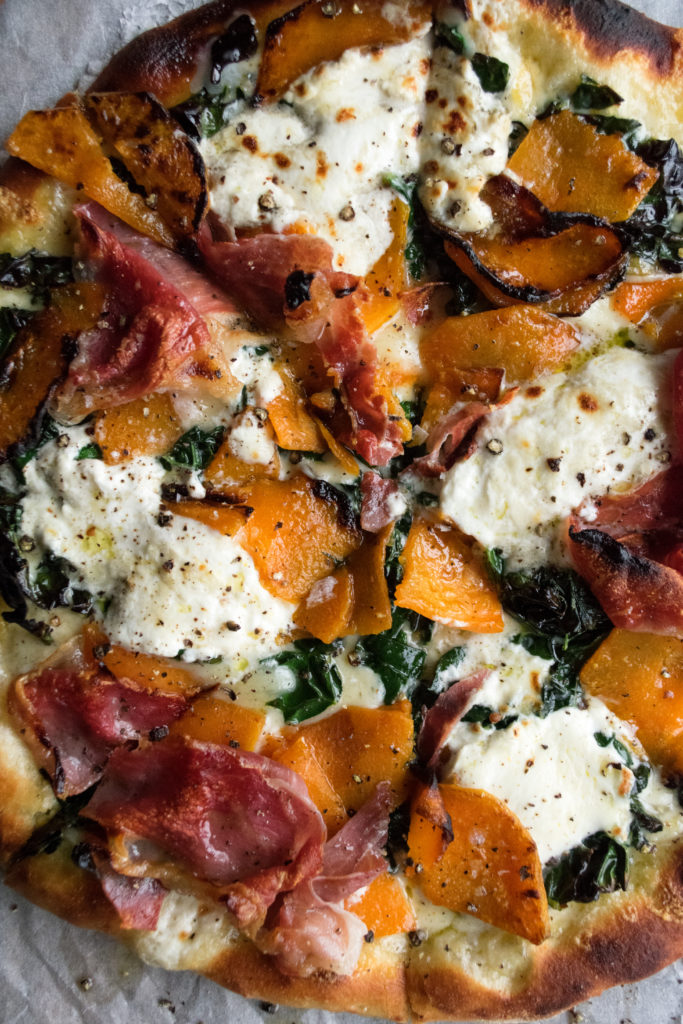 Winter Squash & Prosciutto Pizza