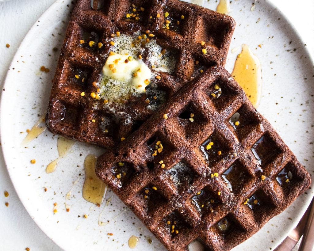 Gluten Free Dark Chocolate Waffles