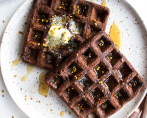 Gluten Free Dark Chocolate Waffles
